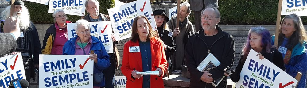 RE-ELECT COUNCILOR EMILY SEMPLE